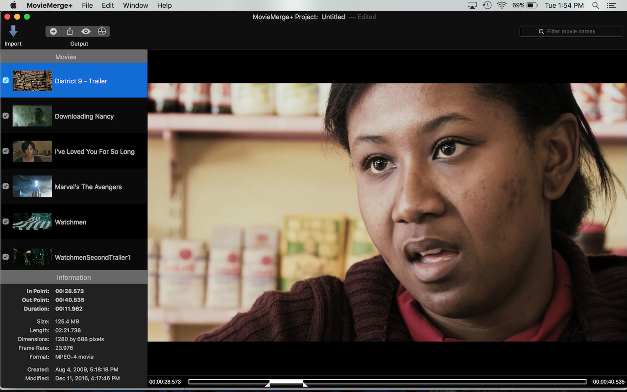 MovieMerge+ 2.7.1 is now available in the Mac App Store Image